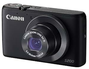 Canon デジタルカメラ PowerShot S200(ブラック) F値2.0 広角24mm 光学5倍ズーム PSS200(BK)