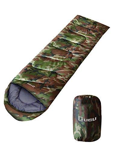 LICLI 寝袋 「丸洗いできる 封筒型 シュラフ 」「 コンパクト 簡単収...