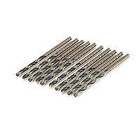 Tivollyff 10本7.5ミリメートル黒と金の高速スチールツイストドリルビットセット鋼鉄の木材プラスチックアルミニウム合金で使用するための電動工具 ブラックとゴールド