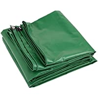LIANGLIANG トラックシートダブルサイド防水日焼け止め重い引き裂き抵抗Foldable金属のボタンホールPVCプラスチック、8サイズ品質550g/m2 (色 : Green, サイズ さいず : 4.8x5.9m)