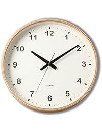 KATOMOKU plywood wall clock ナチュラル 電波時計 連続秒針 km-33LRC φ304mm