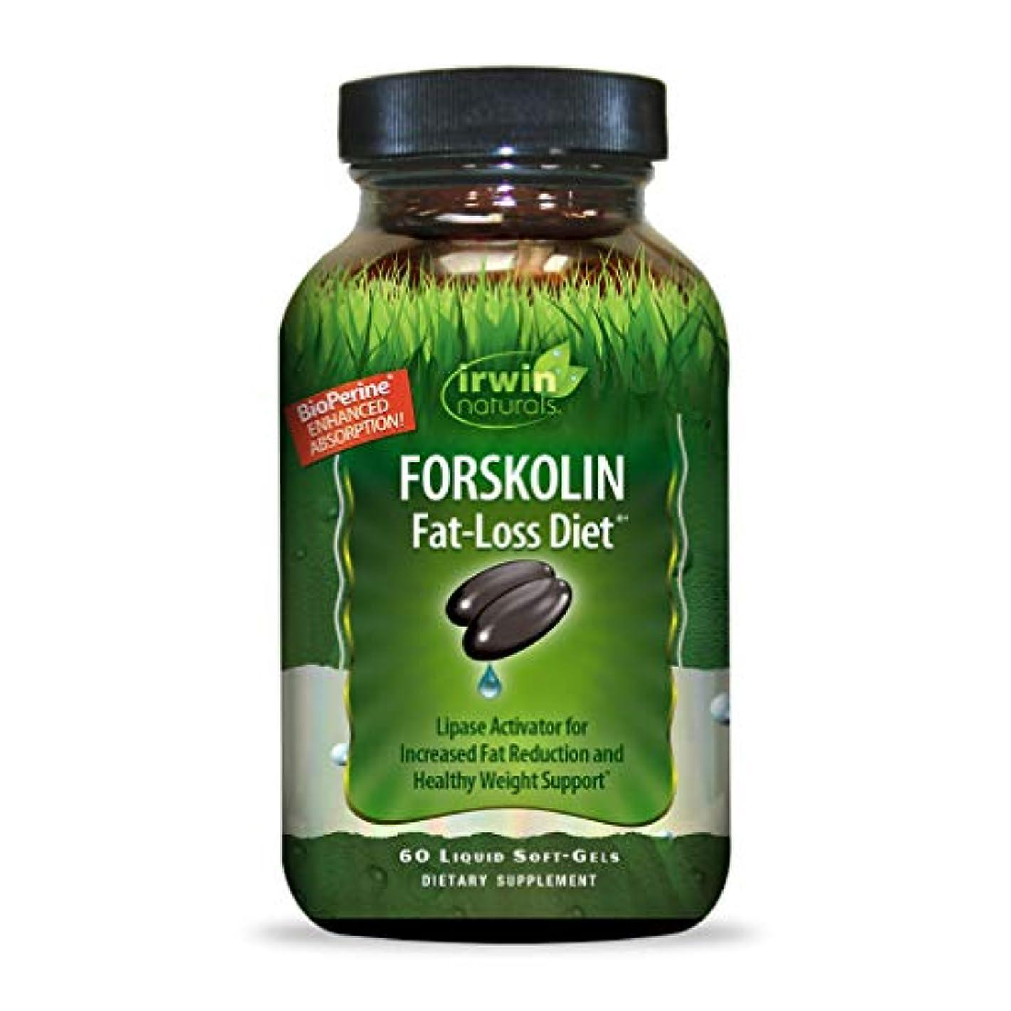無関心構成チョップIrwin Naturals Forskolin(フォルスコリン) Fat-Loss Diet 60 sgels
