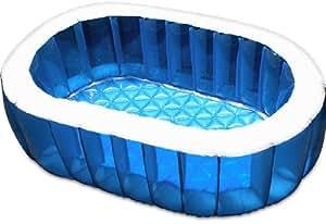 FIELDOOR ビニールプール オーバルプール 【ブルー】 148cm×100cm 家庭用プール ジャンボプール ベランダ