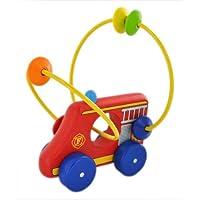 ピントーイ 木のおもちゃ くねくねコロコロ プッシュトーイ くねくね消防車