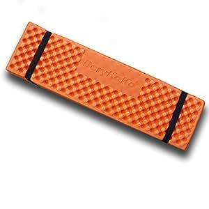 BeryKoKo レジャーマット 超厚 折りたたみ 20mm厚 XPE素材採用 専用収納袋付 レジャーシート 超軽量 撥水 水洗い 保温 断熱 キャンプ ピクニック (オレンジ) 正規品/18ヶ月保証