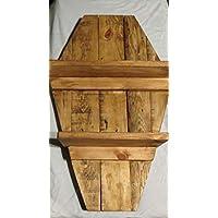 Coffinウォールシェルフドラキュラスタイルゴシックホームインテリア26 x 18