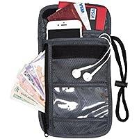 (バッグスマート) ネックポーチ トラベルポーチ パスポートケース 首下げ 貴重品入れ セキュリティポーチ