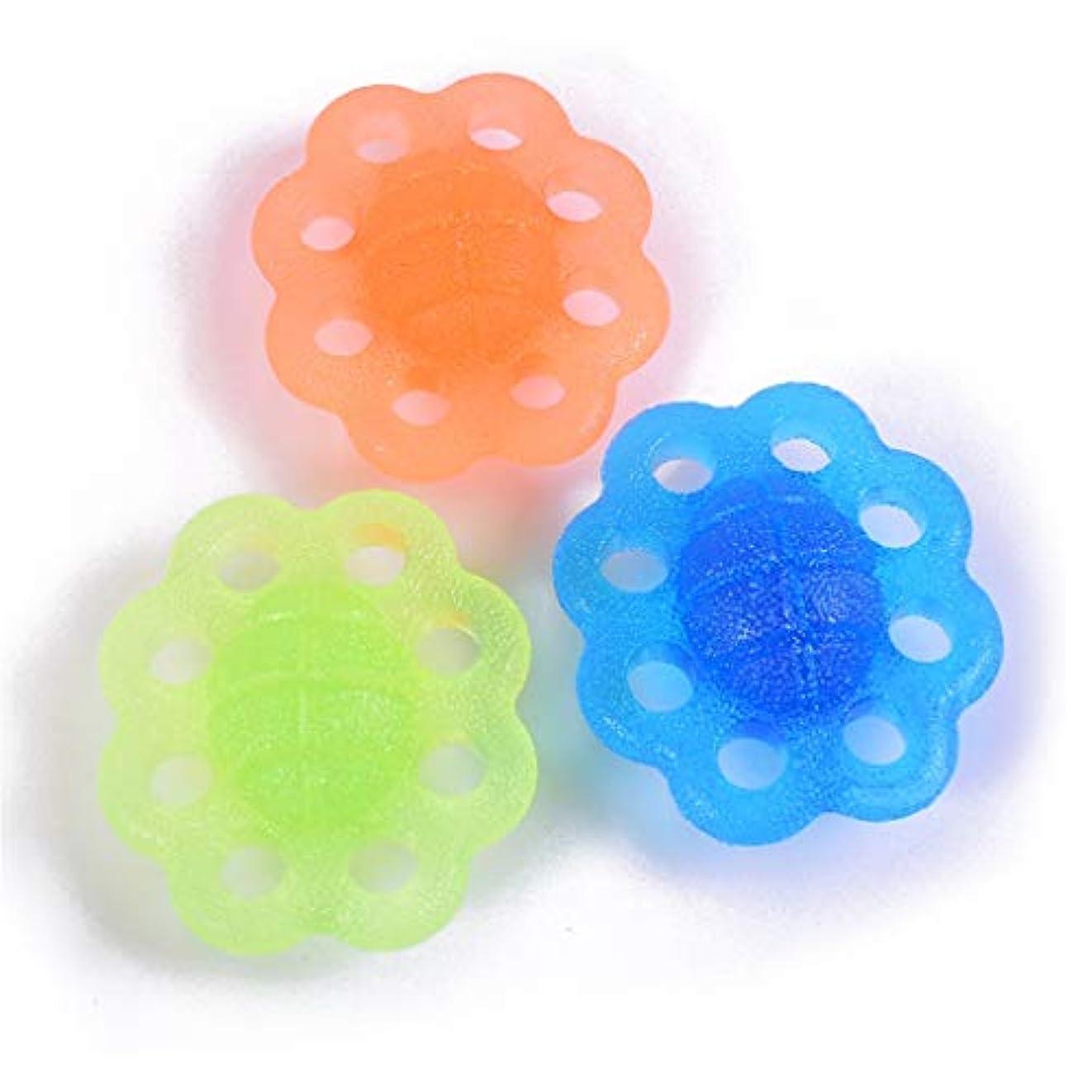暗くするクレタ机家庭用シリコングリップボール、指リハビリテーション専門男性と女性高齢者の脳卒中リハビリテーション、手首の関節炎治療指強度TRPエクセ(3個)