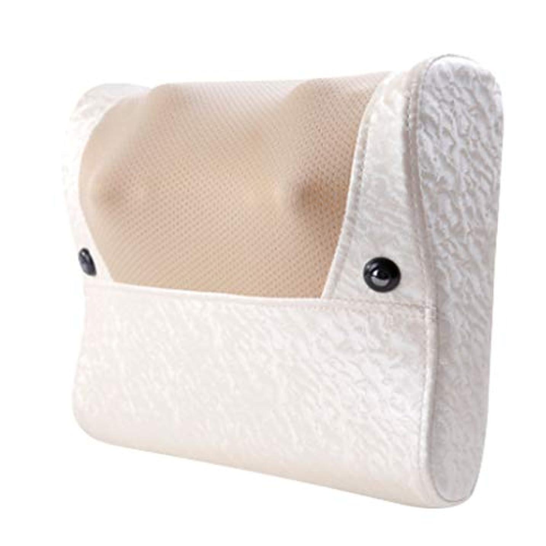 感嘆符中央ビール8Dネックマッサージャー - 家庭用電動多機能ボディマッサージ、カーパッド、首、肩、腰、脚マッサージ。