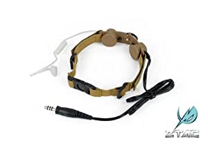 【咽喉マイク】ZTACTICAL タクティカルスロートマイク TAN(Z-033T)★本場SEALE隊員も愛用! 検)サバゲ サバイバルゲーム