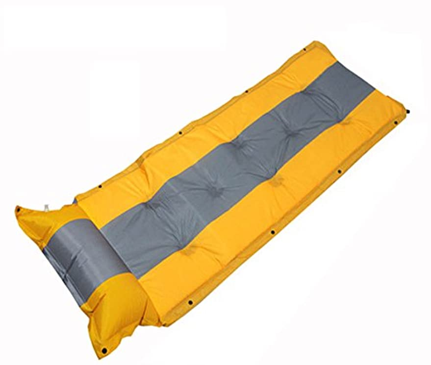 広々欠席居心地の良いSoloub 寝袋マット キャンプマット 折り畳み 自動膨張式 エアーマット キャンプマット キャンピングマット エアーベッド 自動膨張 連結可能 テント泊 車中泊 耐水加工 アウトドア キャンプ エアマット 一体式枕が付き アウトドア家族旅行用 192*60*3cm厚さ 複数連結可能 防水 コンパクト 昼寝マット専用収納袋が付き 2つカラー