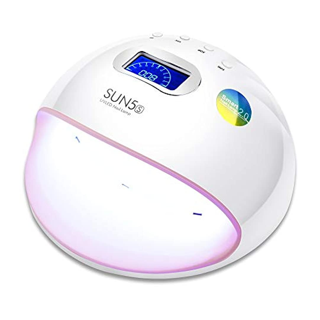 有利小間月面ZHQI-NAIL Ledネイルランプuvランプネイルドライヤー用オールゲルポリッシュマニキュア液晶ディスプレイサンライト赤外線タイマー (色 : White/Pink, Size : US plug)