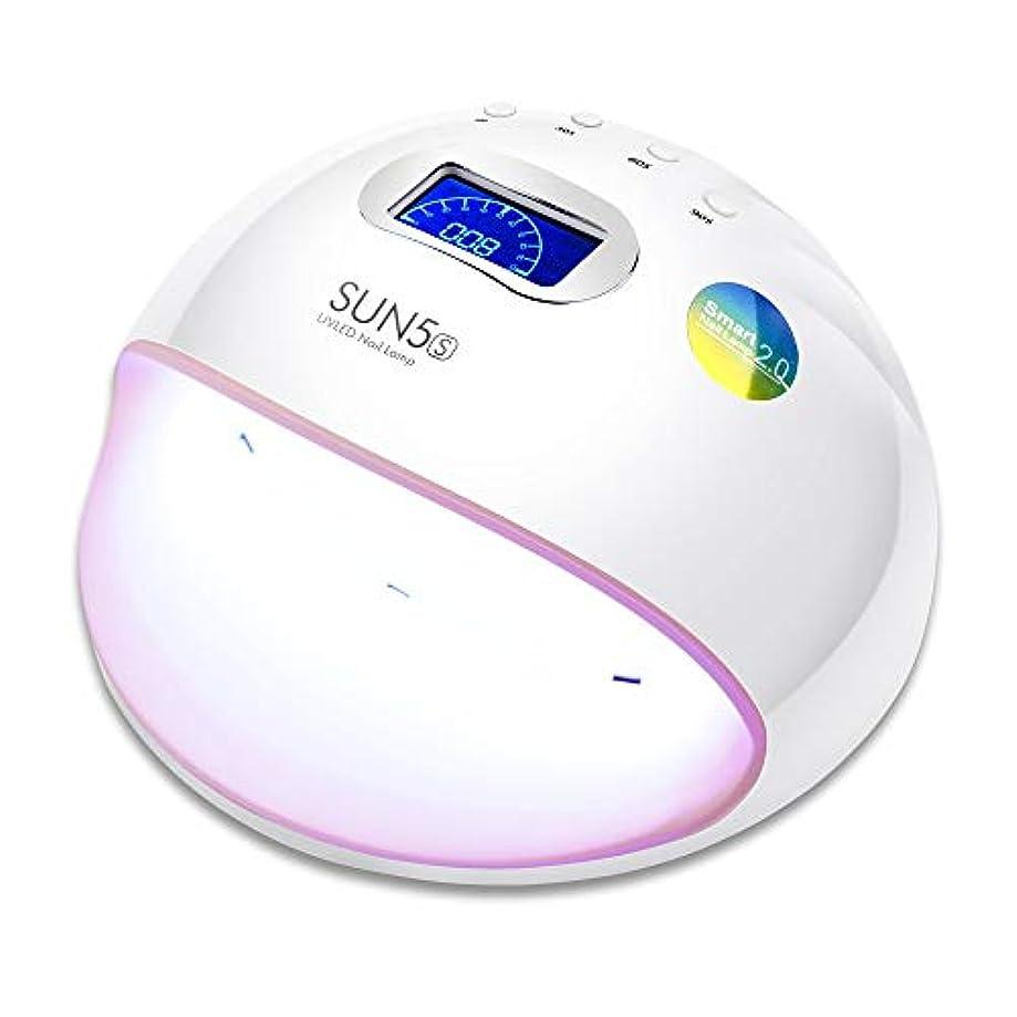 キリストスープ毎回ZHQI-NAIL Ledネイルランプuvランプネイルドライヤー用オールゲルポリッシュマニキュア液晶ディスプレイサンライト赤外線タイマー (色 : White/Pink, Size : US plug)