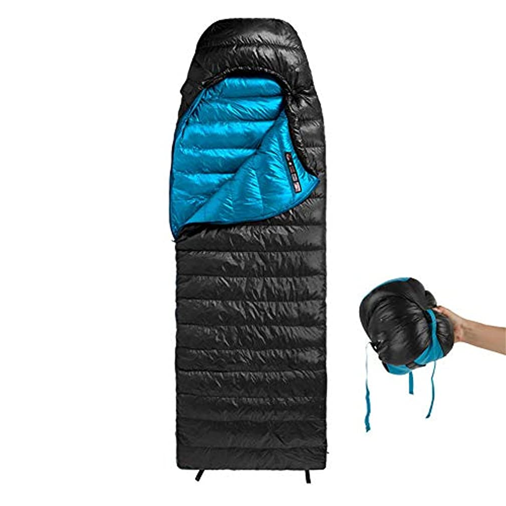 振動する締め切りシードDurable,breathable,comfortable寝袋、大人の後輩の軽量の睡眠袋-5 ?15° c のナイロンミイラ睡眠袋余分な大きなポッドのデザインはキャンプに最適です,Black,220*85cm