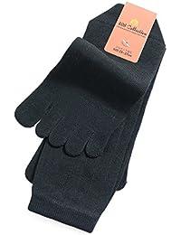 靴下 メンズ 5本指 ビジネス ソックス シルケット加工