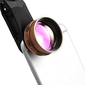 Patech 望遠レンズ HDカメラ レンズ 2倍望遠 クリップ式カメラレンズキット iPhone/ Samsung/Sony/HTC/Androidスマートフォンなど対応