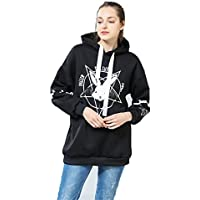 BSTANG Autumn Lace up Hoodies Cartoon Rabbit Pentacle Print Sweatshirt Kawaii Long Sleeve Loose Women Tracksuit