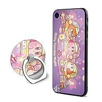 LASATA-MT 星のカービィ スターアライズIPhone 7/ IPhone 8 ケース&リングブラケットセット 全面保護印刷 アイフォン7/8 人気 携帯ケース フォンケース Apple 7/8 男女兼用