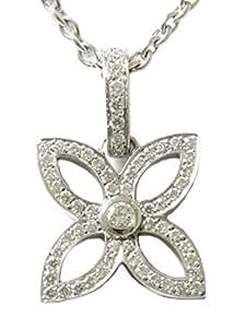 LOUIS VUITTON(ルイヴィトン) K18WG / パンダンティフクラッカント ダイヤモンド ネックレス 18金ホワイトゴールド