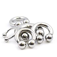 BodyJewelryOnline Horseshoe Jewelry Made of Surgical Steel Multiple Gauges