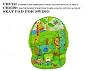 Fisher Price SWING Replacement Parts, Pad, Adaptor, Straps (CKK59 Take Along Swing Rainforest) by Fisher-Price