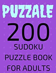 PUZZALE 200 Sudoku Puzzle Book for Adults: 200 Large Print Puzzles