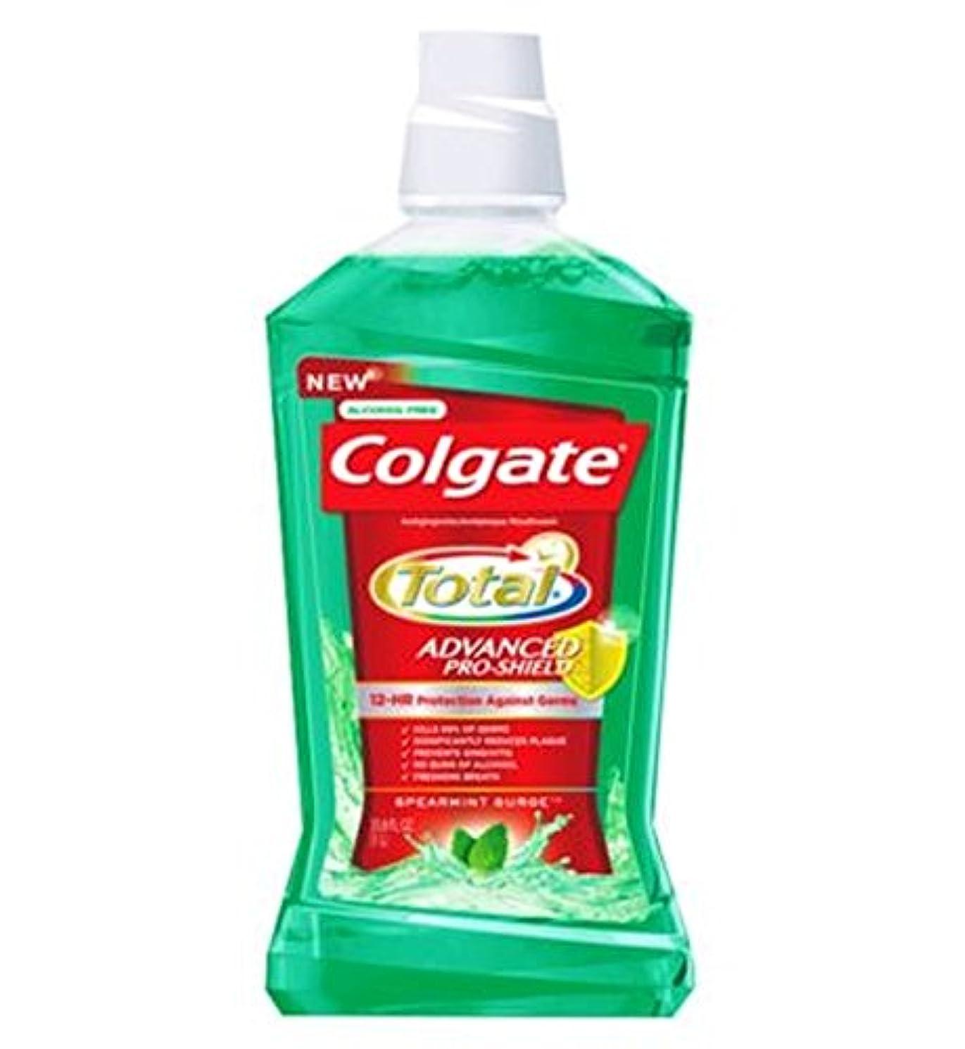 戸惑う腹部小間コルゲートの口内洗浄剤の合計緑500ミリリットル (Colgate) (x2) - Colgate Mouthrinse Total Green 500ml (Pack of 2) [並行輸入品]