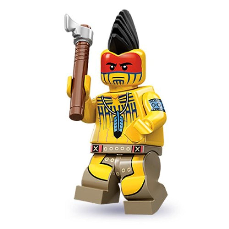 レゴ ミニフィグ 【シリーズ10】 Tomahawk Warrior ※おまけ(ミニフィグヘッド1個)付き