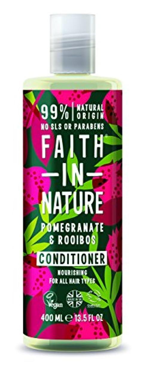 偽善者カブ同封するFaith In Nature Pomegranate & Rooibos Conditioner For All Hair Types 400ml