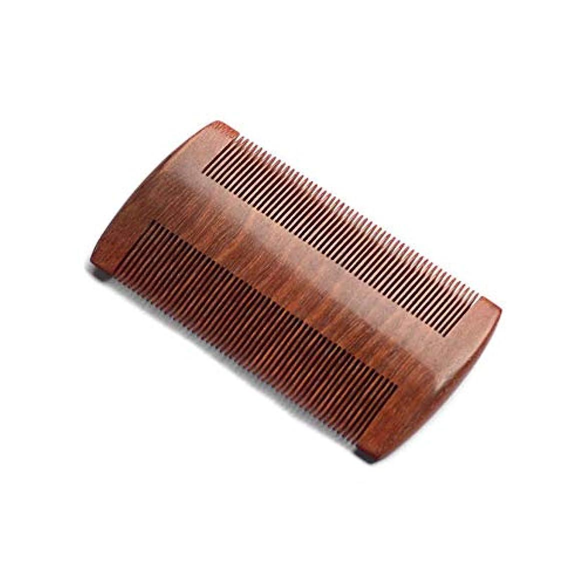 穏やかな中央ショットZYDP 細かいコンパクトな歯赤白檀の髪の櫛手作りの櫛帯電防止髪の櫛