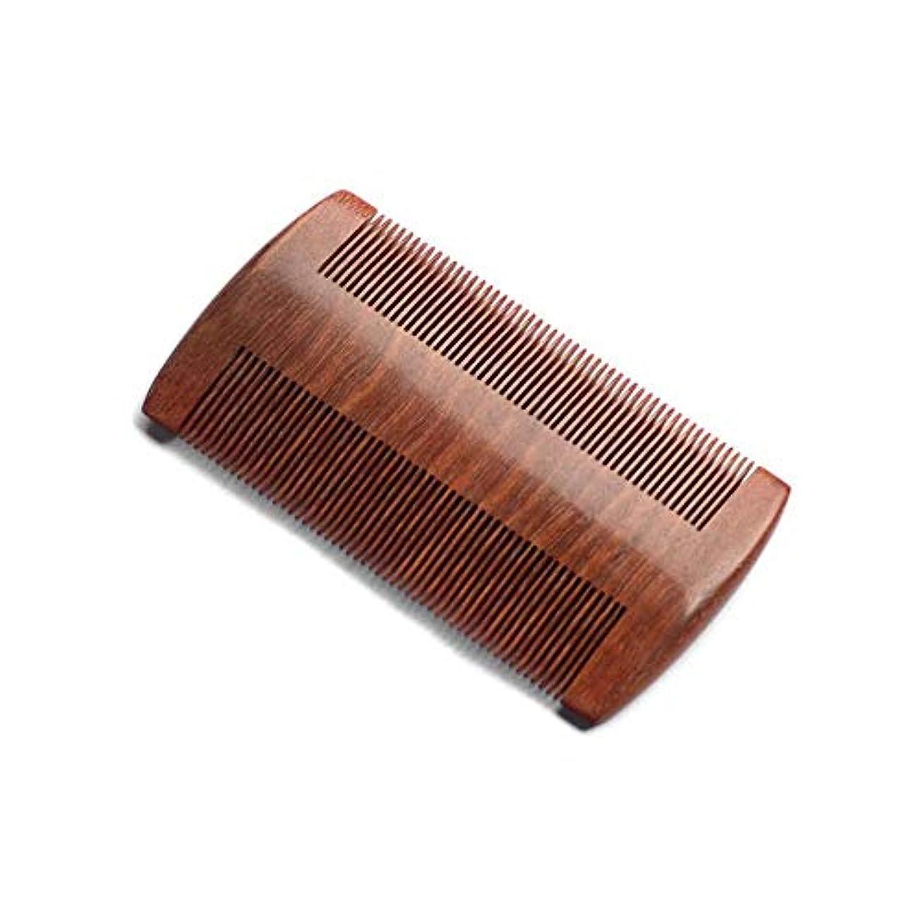 統治可能穴腐敗したZYDP 細かいコンパクトな歯赤白檀の髪の櫛手作りの櫛帯電防止髪の櫛