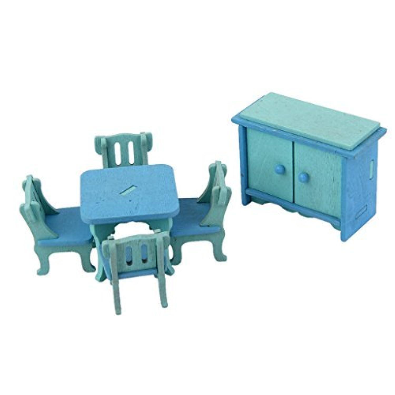 [ノーブランド品]ミニチュア手作り家具木製玩具デコレーションDIY装飾アクセサリールームセット人形House