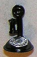 ドールハウスミニチュアブラックCandlestick電話