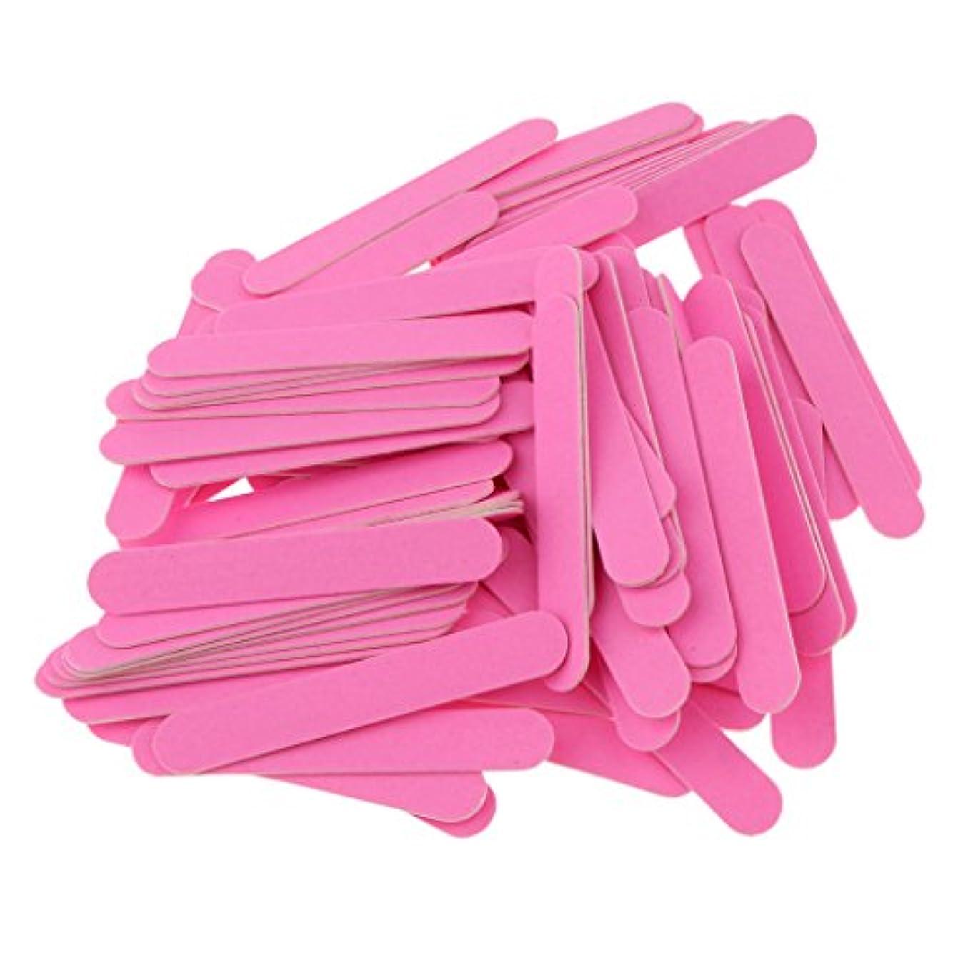 チャットパワー意図的Blesiya 約100個 ネイルファイル 滑らか 光沢 爪のファイル バッファブロックセット プロ マニキュアキット