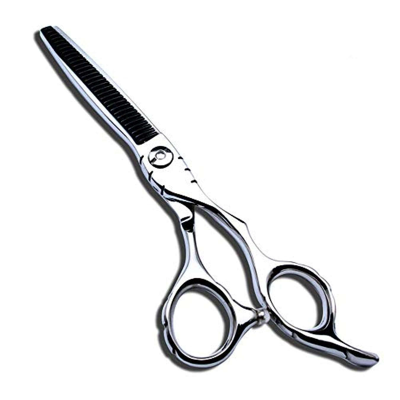 汚染まっすぐにするアッパー6インチ美容院プロフェッショナル440C散髪はさみ モデリングツール (色 : Silver)