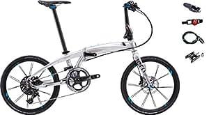 2017年モデル Tern【ターン】 Verge X11 20インチ折り畳み自転車 +フロントライト、テールライト、ロングワイヤー錠、着脱ペダル (クローム/ブラック)