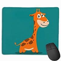 マウスパッド 青い キリン 子供 グレー ゲーミング オフィス最適 おしゃれ 疲労低減 滑り止めゴム底 耐久性が良い 防水 かわいい PC MacBook Pro/DELL/HP/SAMSUNGなどに 光学式対応 高級感プレゼント plesamncgb