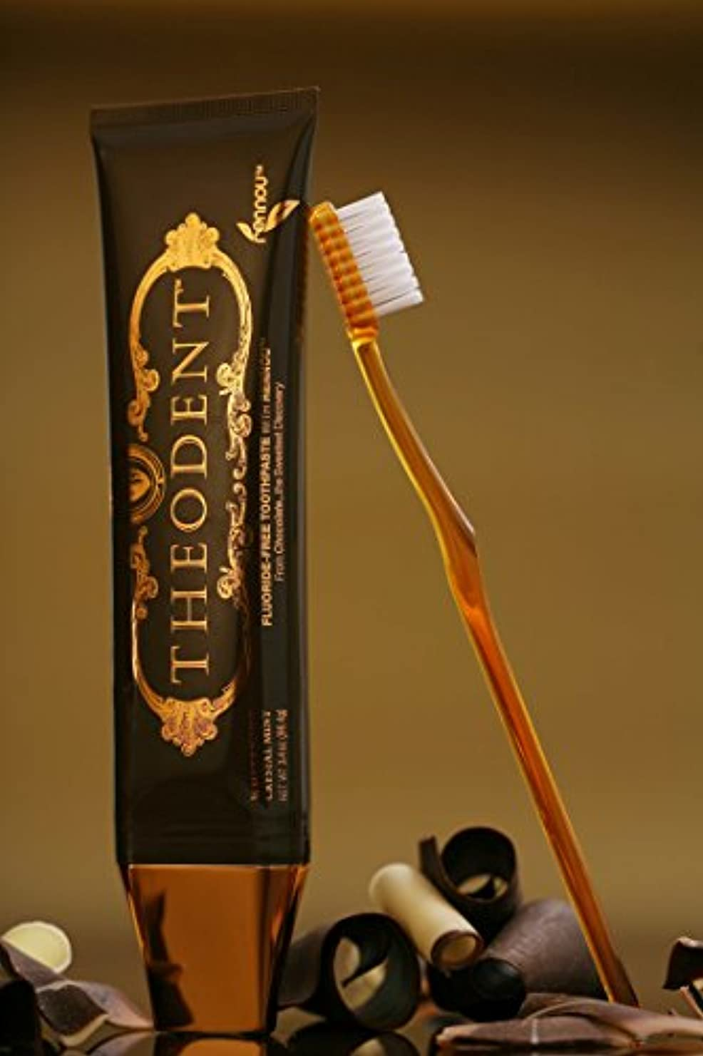 プレート架空の慣性THEODENT(テオデント) 天然カカオが歯を白く☆フッ化物なしで安心歯磨き96g×2本セット 海外直送品