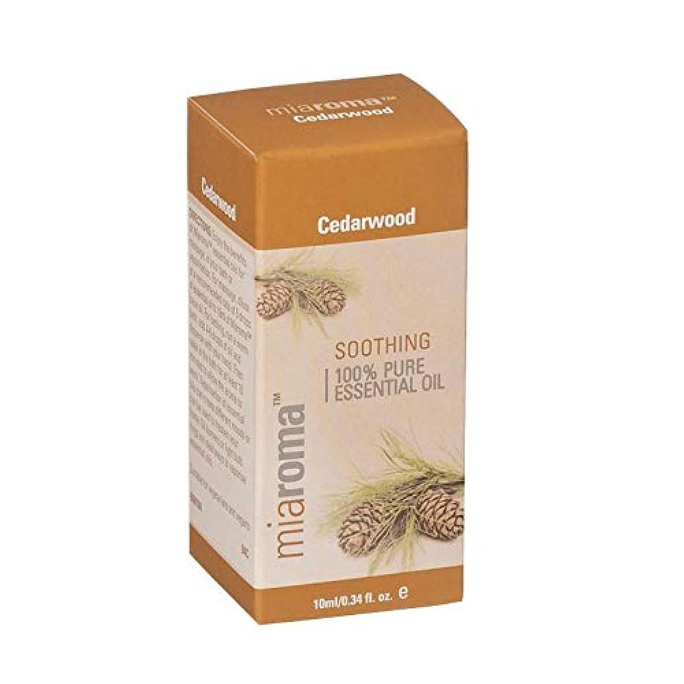 騒乱控える邪魔する[Miaroma] Miaromaシダーウッドピュアエッセンシャルオイル - Miaroma Cedarwood Pure Essential Oil [並行輸入品]
