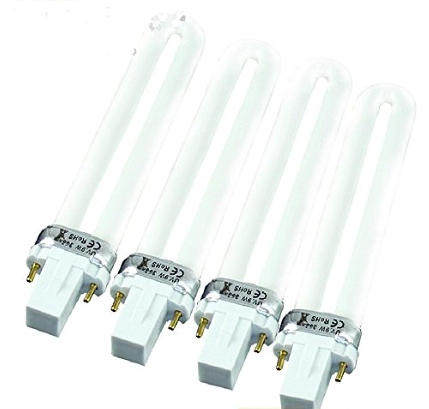 会議振動するうぬぼれた4本セット U型 UVライト 交換用ライト 9W×4本 36w
