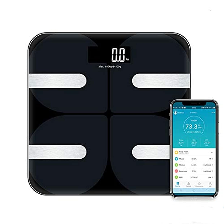 導出怠惰誘うブルートゥース体脂肪計、LCDディスプレイタッチキー付きスマート体重計、体重脂肪水分筋肉BMI内臓脂肪骨カロリーなどの検出