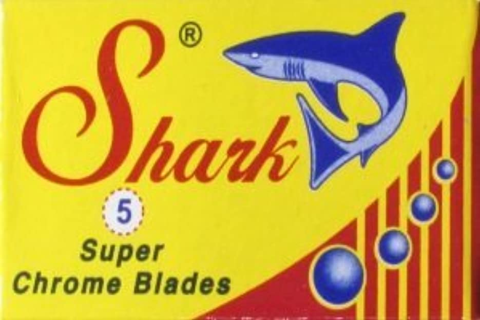 不適背が高い中絶Shark Super Chrome 両刃替刃 5枚入り(5枚入り1 個セット)【並行輸入品】