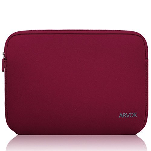 Arvok 15 15.6 16インチ耐水性ネオプレンラップトップ スリーブケースバッグ/ ノートブックコンピュータ用ケース/ キャリングバッグブリーフケース 東芝/富士通/Acer/Asus/Dell/Lenovo/HP/Samsung/Sony ブリーフケース 保護用スリーブカバーエイサー/ (ワインレッド)