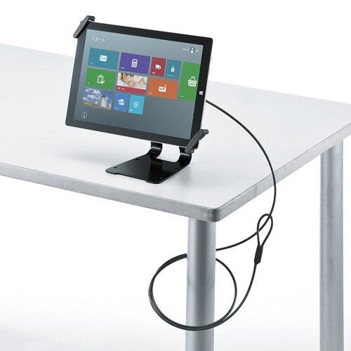 サンワサプライ アウトレット eセキュリティ 10?13インチサイズまで対応 iPad タブレット用 ブラック 汎用タイプ スタンド付き 防犯対策 盗難防止 SLE-31STB13BK 箱にキズ、汚れのあるアウトレット品です。