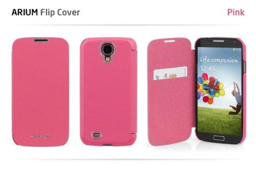 GALAXY S4 フリップカラーケース (docomo GALAXY S4 SC-04E / Samsung Galaxy S IV 対応 By ARIUM DESIGN) Flip Cover (ワンセグ対応/ICカード収納/画面保護フラップ Light Pink(ピンク))