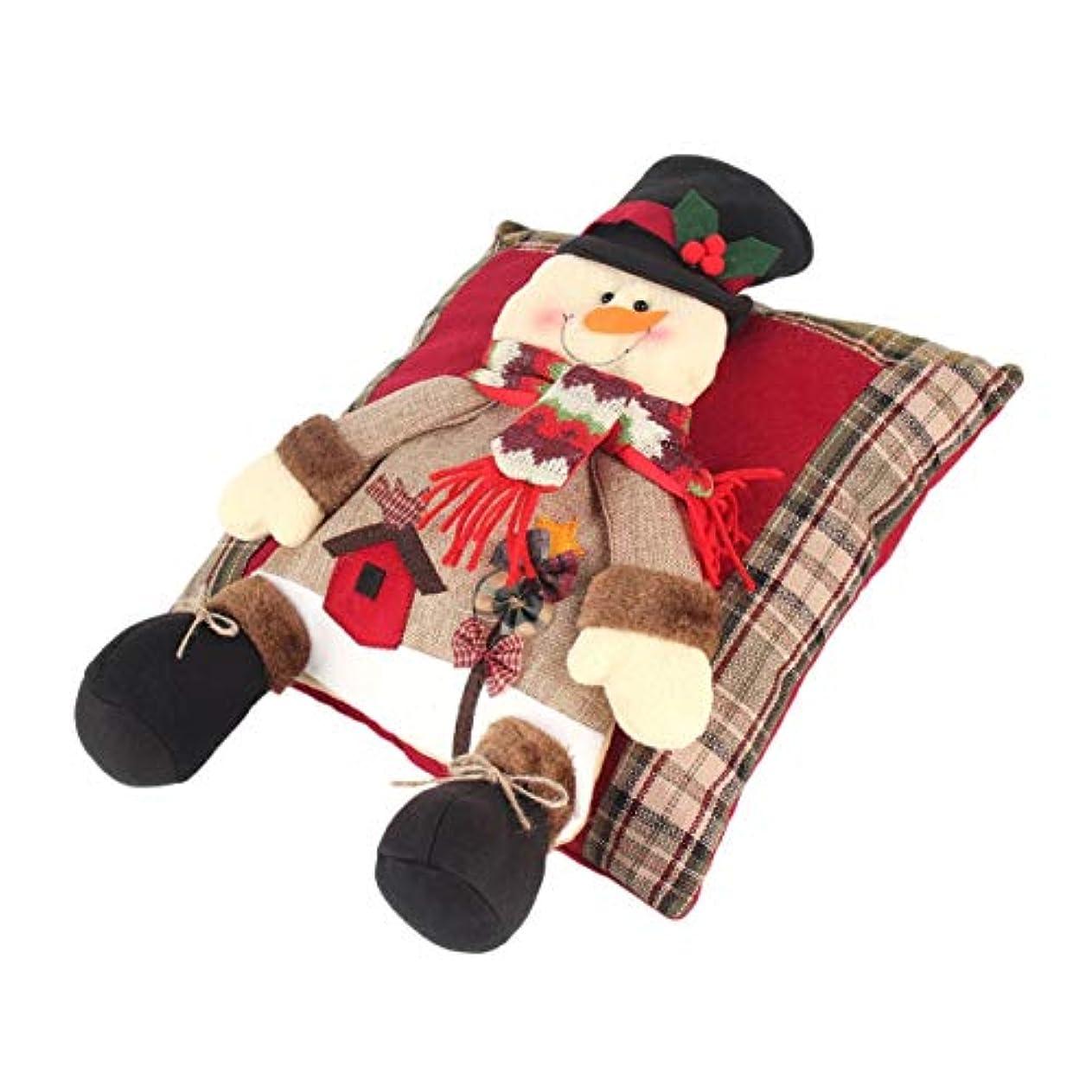 著者ファックス部分的Saikogoods 快適なクリスマスリネン枕フェスティバルソフトクッションホームベッドルームリビングルームのソファの装飾パーフェクトなギフト 多色