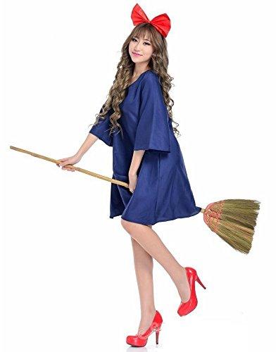 魔女の宅急便 キキ 風 コスチューム 魔女っ子ワンピ レディース 152cm-165cm