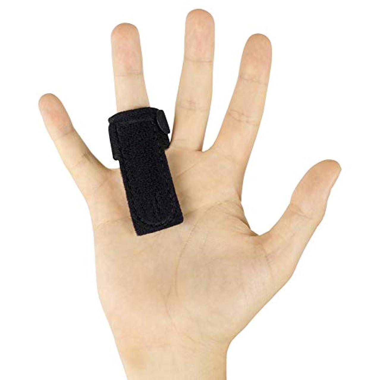 そよ風欠乏ウェイド指の袖をサポートするためのばね指スプリント、内蔵アルミサポートトリガー、矯正関節炎マレットフィンガーナックルブレース指関節炎、指の骨折、腱リリース&痛みを軽減-Gift