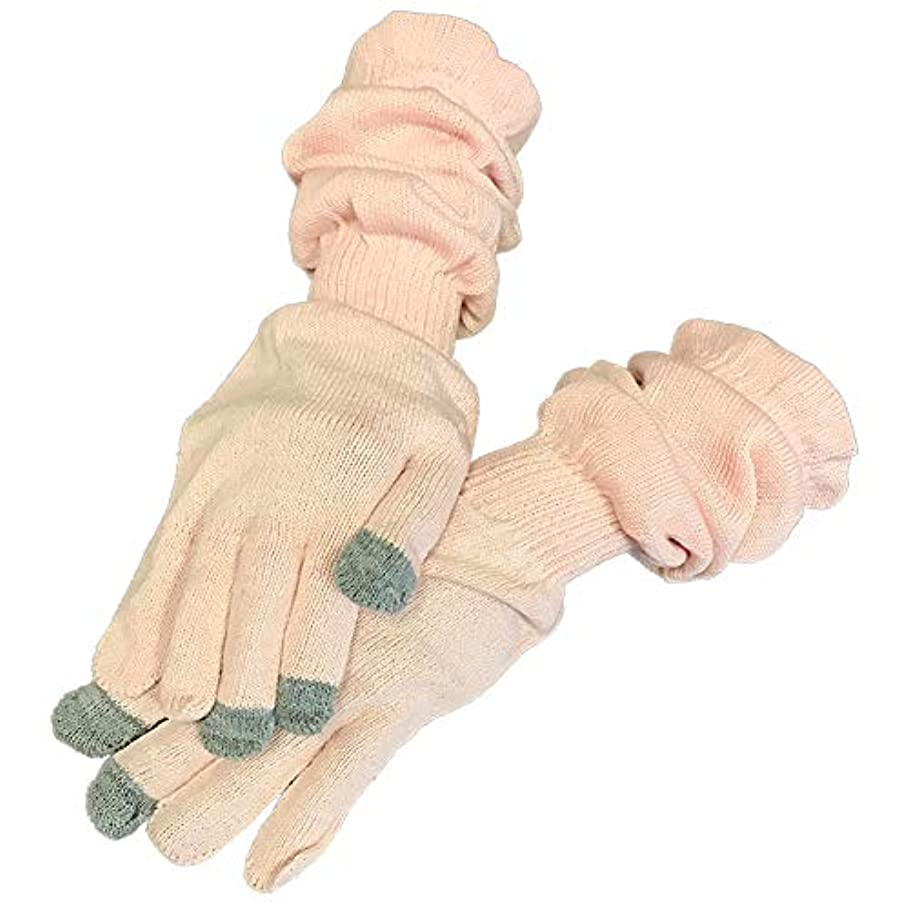 争うグロー版手袋 手 カサカサ ハンドケア 乾燥 手荒れ シルク コットン 防止 予防 対策 保湿 就寝用 寝るとき スマホ スマホOK おやすみ レディース