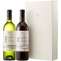【プレゼントに最適のギフトボックス入り】日本ワイン グランポレール 飲み比べ ギフトセット 750ml×2本